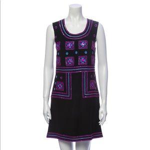 Anna Sui Beaded Geometric Mini Dress